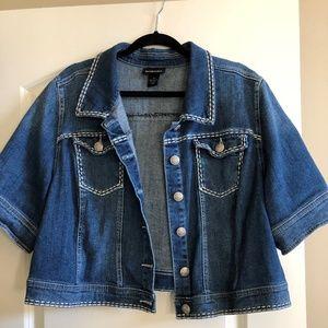Lane Bryant - Short Sleeve Jean Jacket